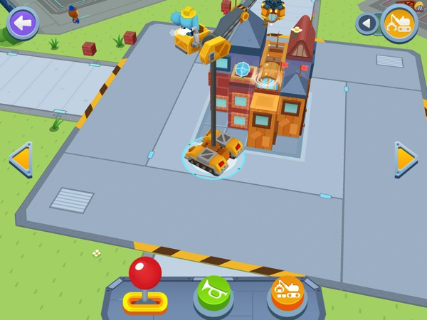 Collect materials and use them to construct your buildings, or knock them down with the wrecking ball