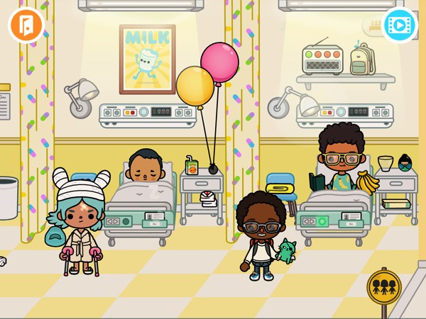 BEST ROLE-PLAYING APP: Toca Hospital lets kids explore and play in a virtual hospital