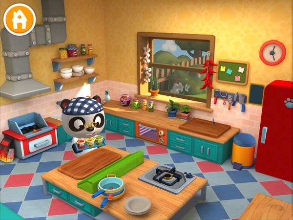 Kids cook and serve up various dishes in Dr. Panda Restaurant 3