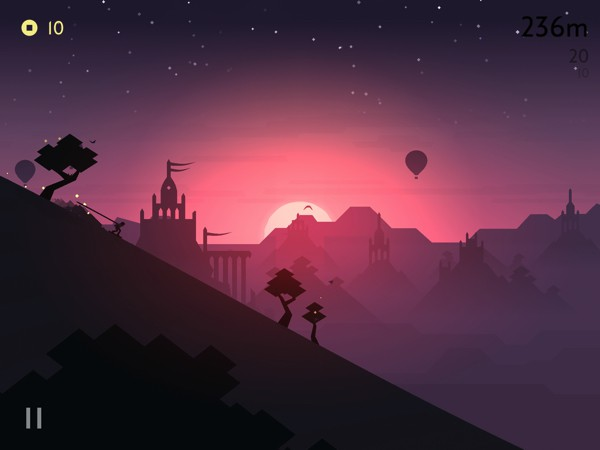 Alto's Odyssey has a zen mode that lets you play without having to worry about scores, obstacles, and goals