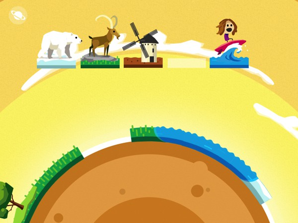 Comomola Planets puts a literal spin on the classic jigsaw puzzle game