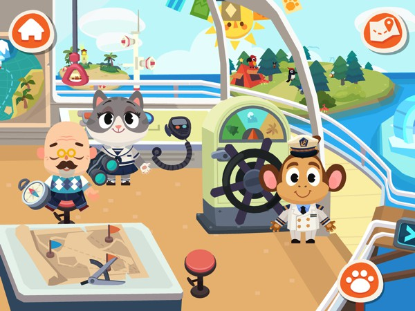 In Dr. Panda Town: Vacation, kids travel around the world on a fancy cruise ship