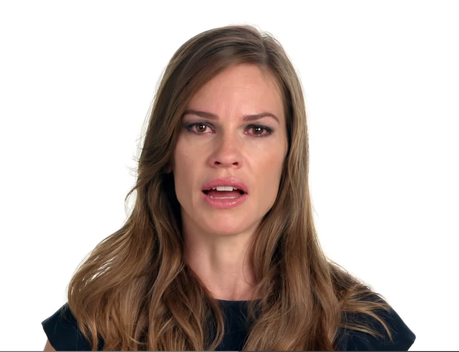 "Hilary Swank in ""Speechless"" PSA from the Joyful Heart Foundation."