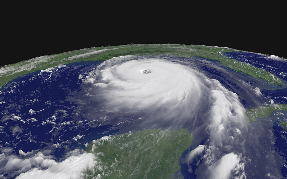 A view of Katrina from space, courtesy of  NASA
