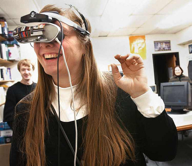 Public relations practitioners, who are historically adept at creating experiences, should consider designing virtual reality experiences. Photo by  Amber Case .