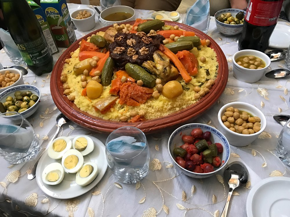 Eating couscous in Morocco is a communal experience - diners are provided spoons and eat from the same large bowl. (photo by Jean Kelso Sandlin)
