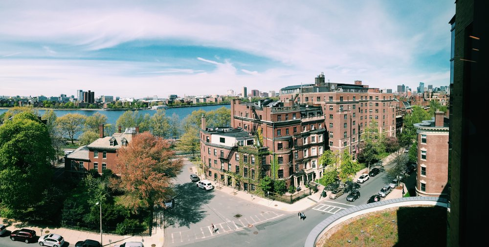 The view from Boston University Yawley Student Center
