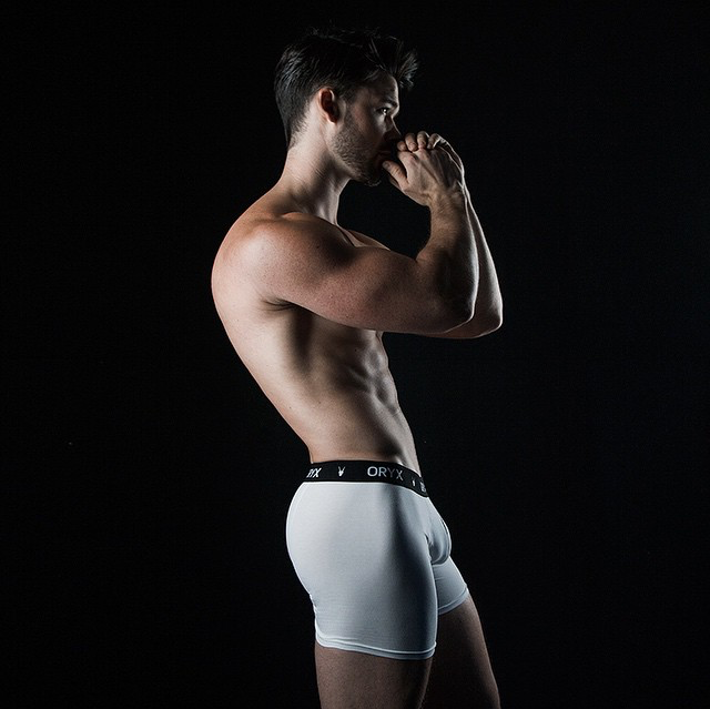 Our Oryx Boxer Brief on Matthew Hartwig by photographer Rick Day