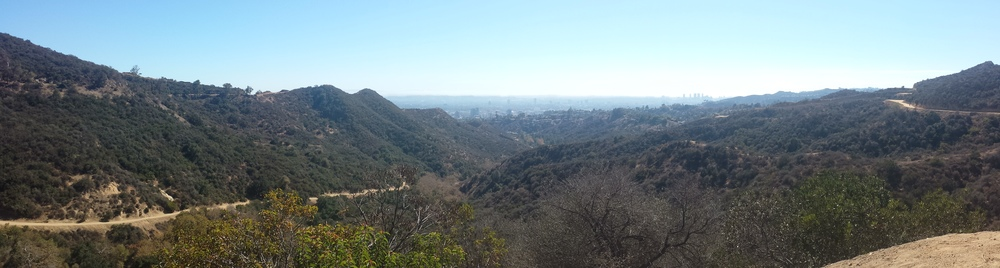 Overlooking L.A. from Bronson Trail at Griffith Park in the Hills