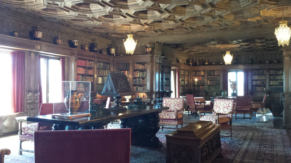 Legend has it that film star (and Hearst's lover) Marion Davies, did cartwheels in this room