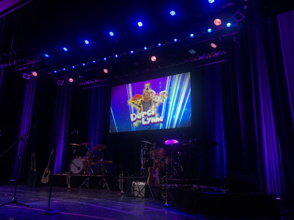 IMAG and video support for a touring show