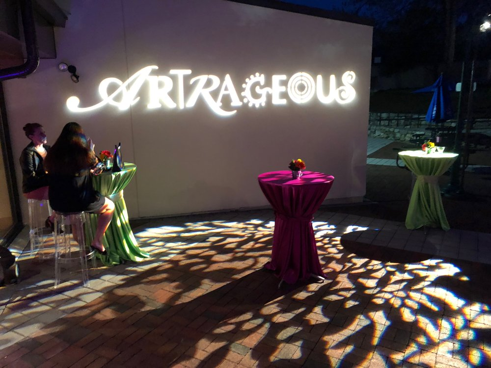 Custom gobo for a fundraiser