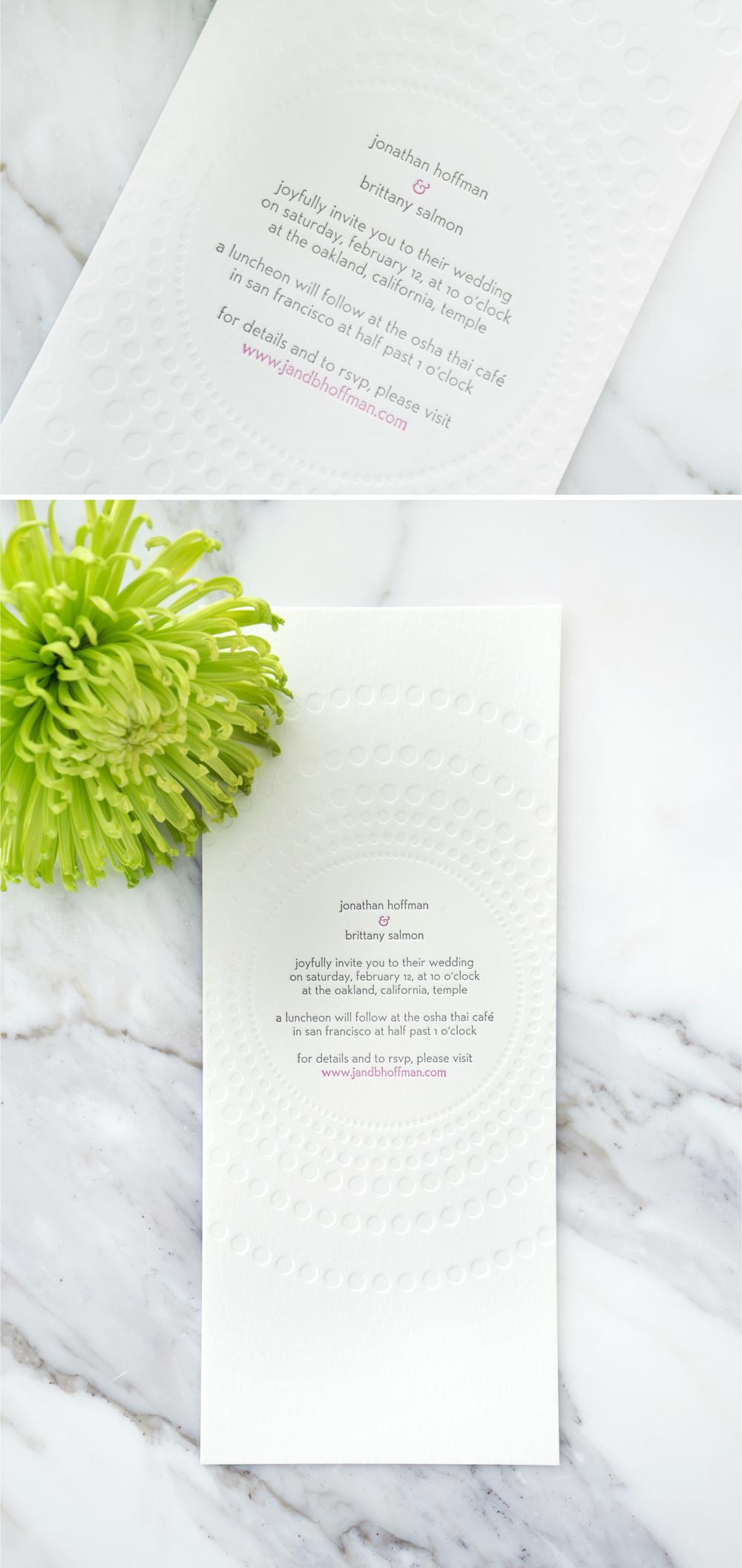 Jonathan & Brittany Wedding Invitation — Brittany Alise Hoffman