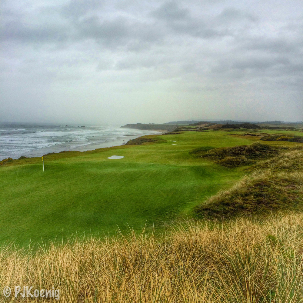 One of my favorite days of golfing in the rain. Thanksgiving 2014 at Pacific Dunes. I was the only golfer on the course.