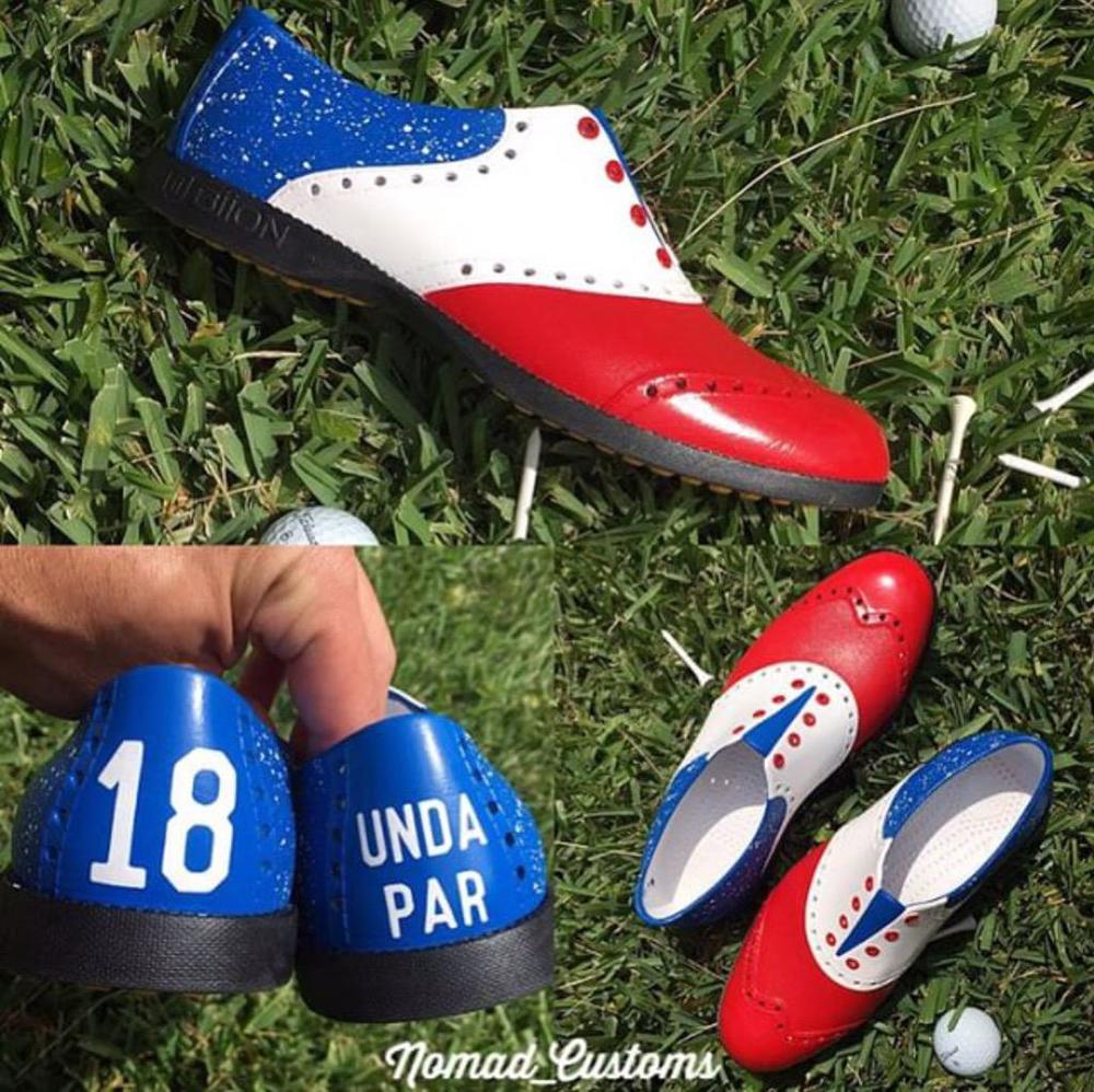 A good pair of shoes clearly states ones goals, while allowing a simple transition from rap to golf.
