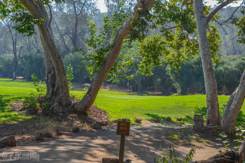 The 18th hole at Bidwell Park