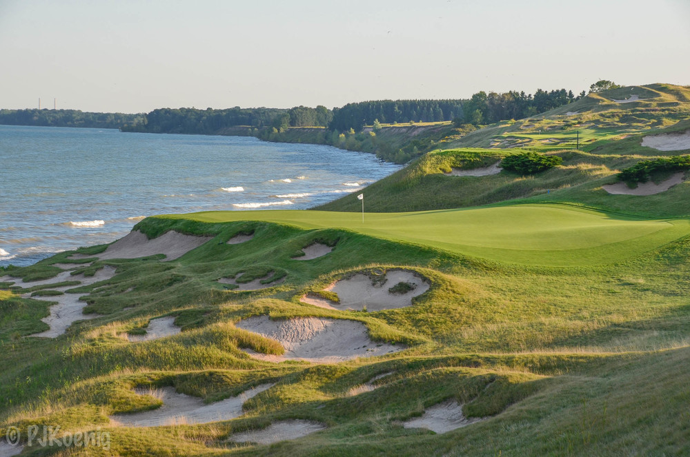 The par 3 3rd hole is the 1st in a series of 4 jaw dropping waterfront par 3's.
