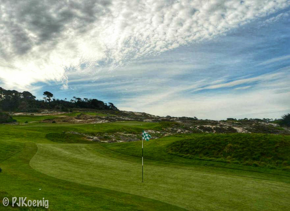 Just outside of the top 10 is Spyglass Hill.  Here is the skinny green on the 4th hole.