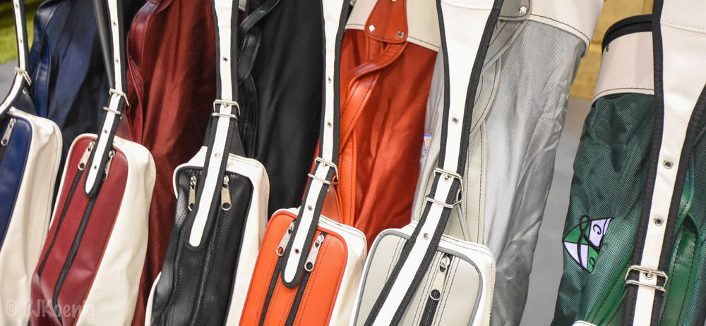 The Classic line up of  Jones Golf Bags .  Classic Jones!
