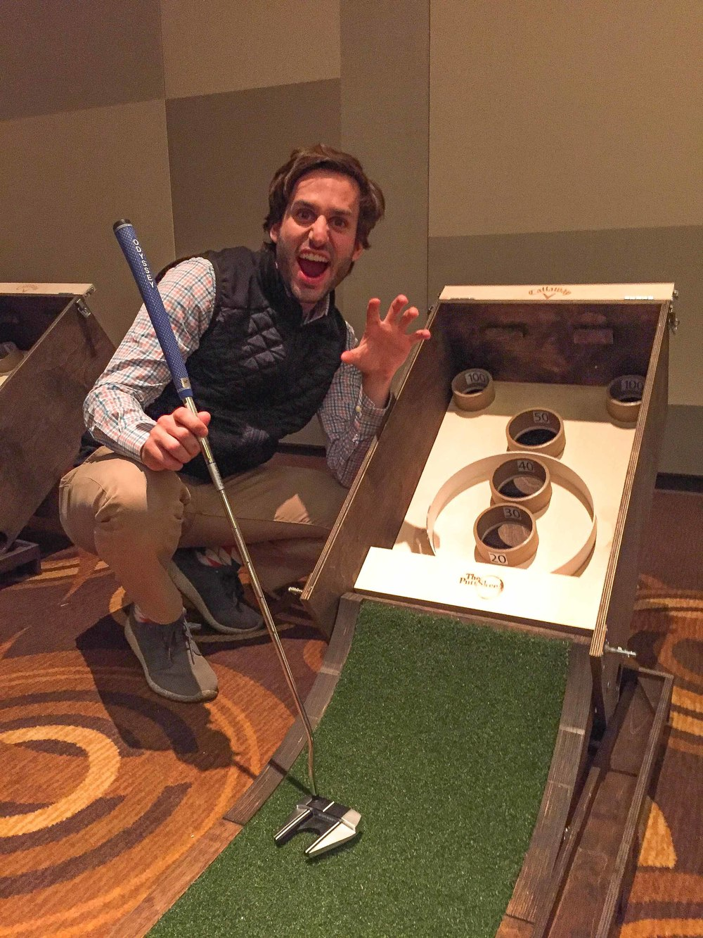 """I am pretty good at golf, I am really good at skee-ball, but I am absolutely awful at Puttskee"" - Four time National Skee-Ball Champion, one time TYPHI Champion, Joey The Cat."