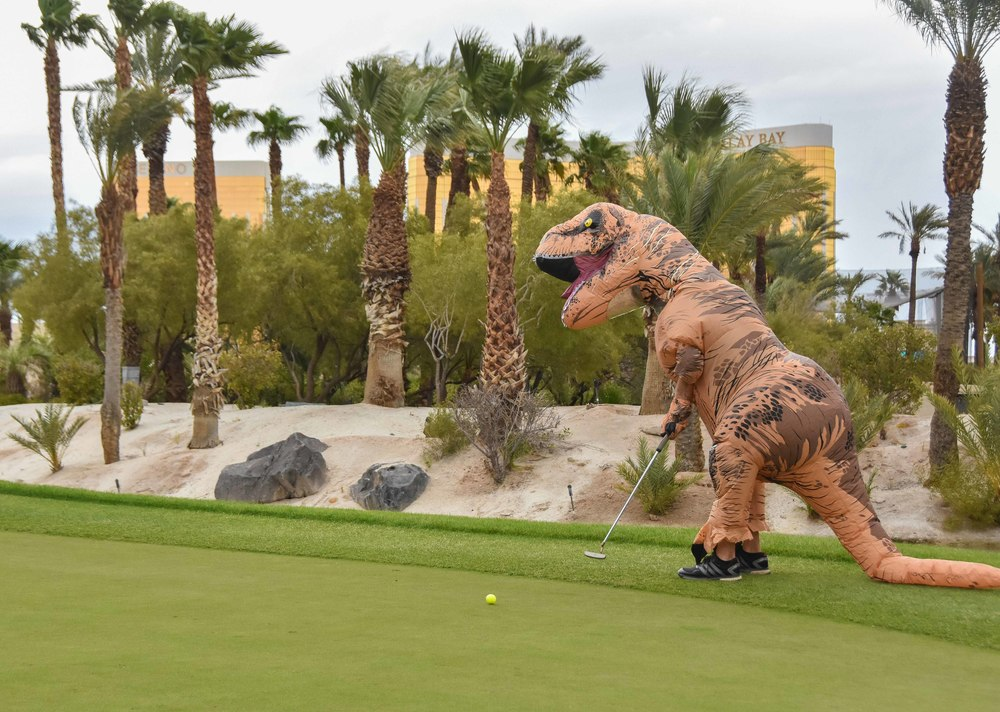 T Rex rolls one in for par.