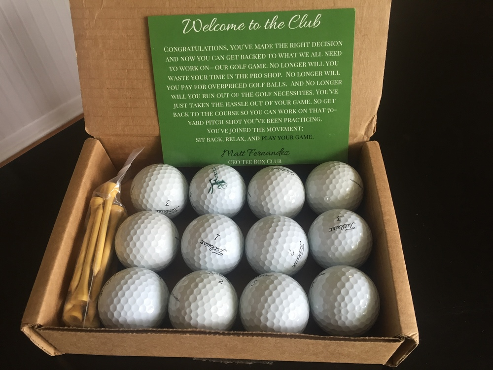 The first arrival of the box from Tee Box Club