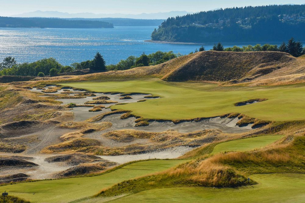 The 14th hole at Chambers Bay was the perfect place to break in the box from Tee Box Club.