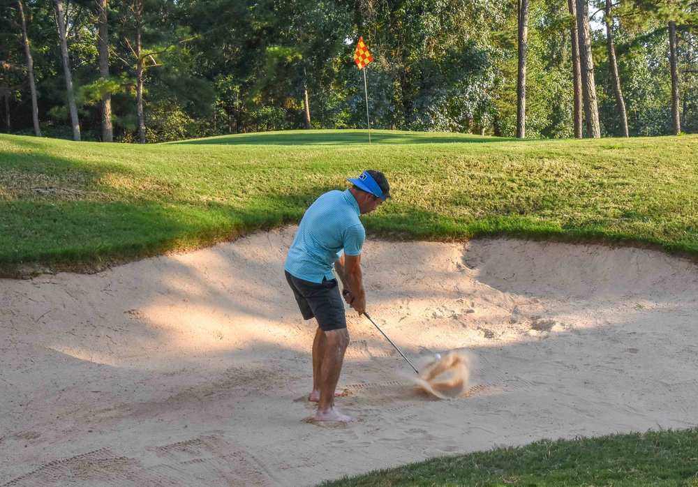 If you have never hit a bunker shot in your bare feet, you are missing out.