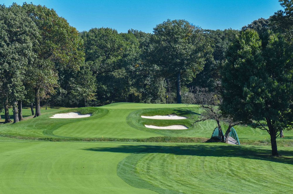 The 3rd hole on the North Course at Olympia Fields
