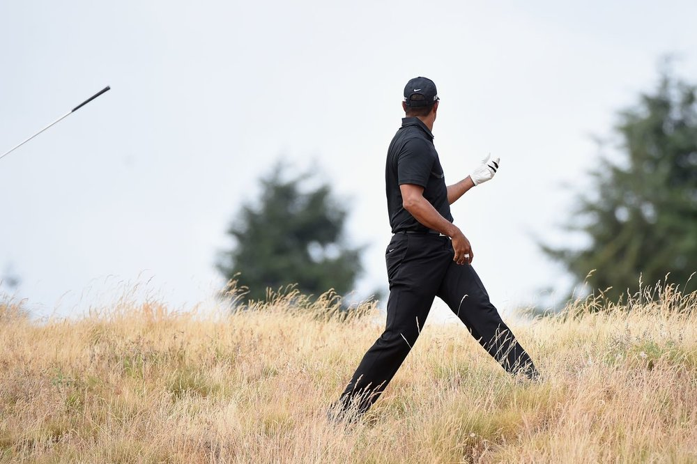 Things headed the wrong way for Tiger Woods at the 2015 US Open at Chambers Bay.