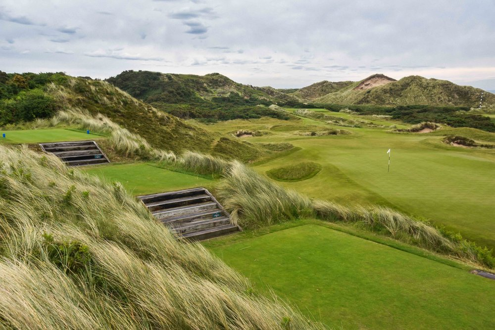 A look back on the par 3 4th at Royal County Down.