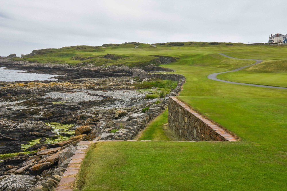 The tee shot on the opener at Ardglass.