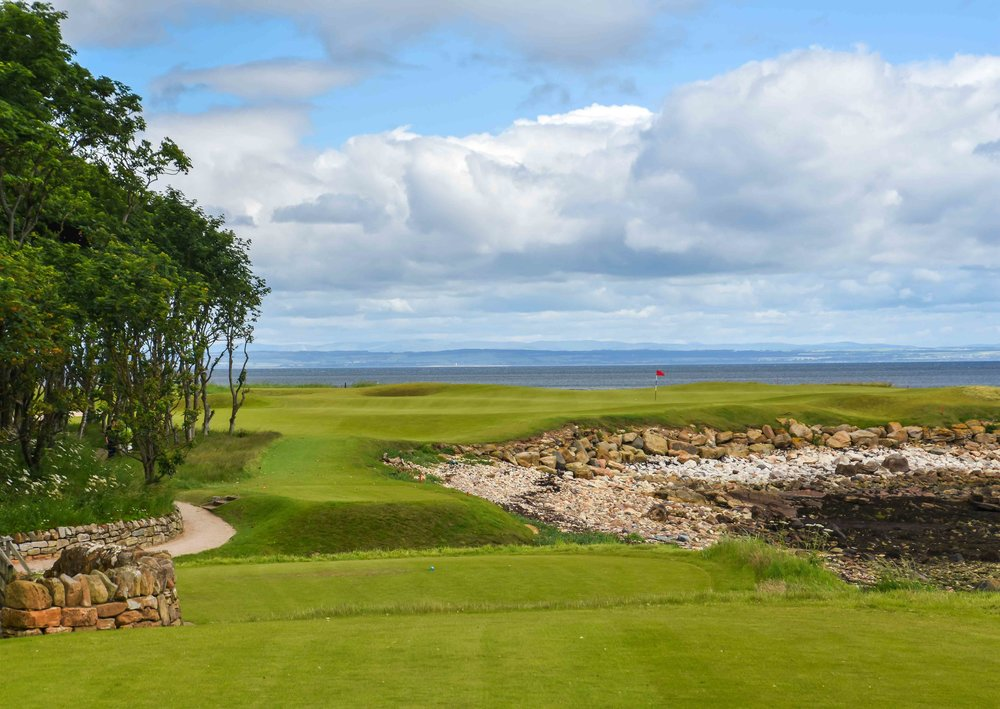 At around 200 yards, the 15th at Kingsbarns is a real ball buster of a par 3.