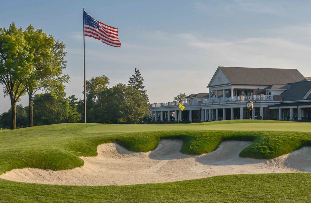 The 18th hole at Scioto Country Club