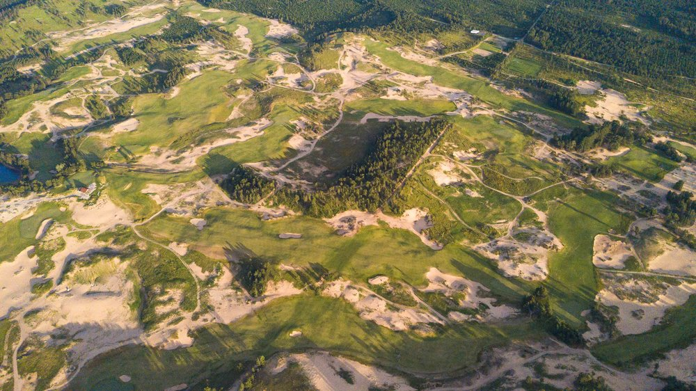 Sand Valley was built on top of a sand bed left behind from a glacier.