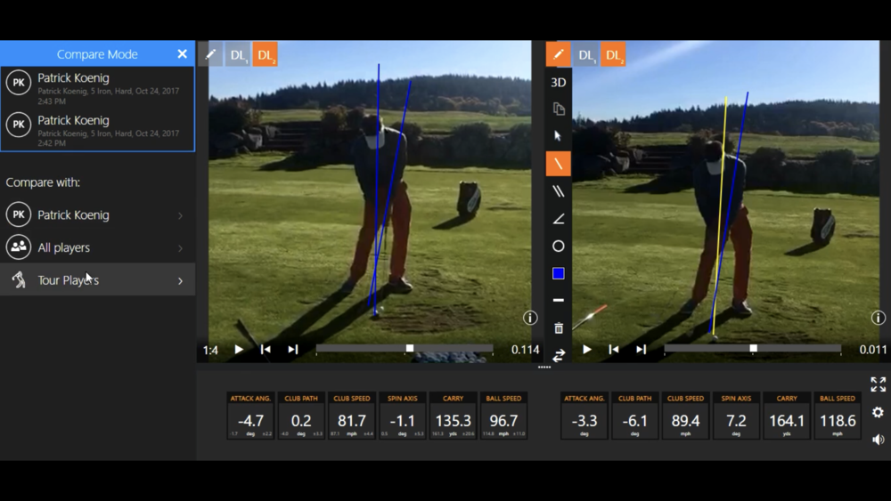 On the latest session, Alex and I worked on consistently compressing my iron shots.