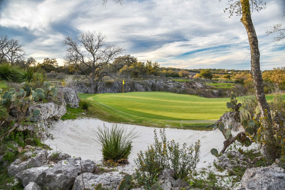 "Although the view from the tee box is stunning, I found the shot from behind the green on ""Texas' most beautiful par 3"" to be just as good."