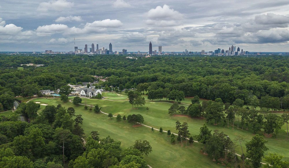 Nice little view of Atlanta from above Druid Hills