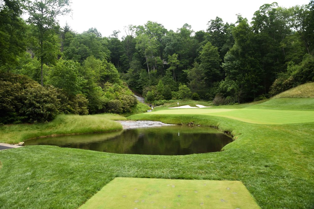The wildly challenging 3rd hole at Wade Hampton