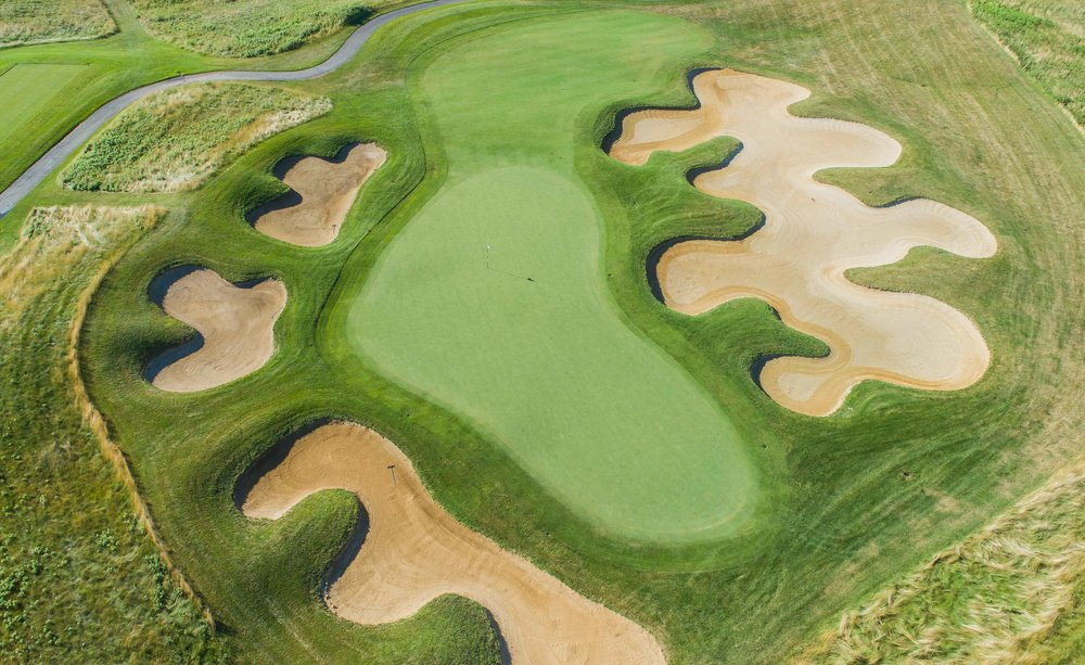 The Stanley Thompson themed 17th at Architects Golf Club