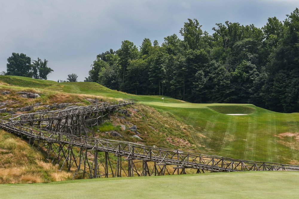 The haunted bridge leading to the 3rd hole.  Pro tip:  Everything is haunted at Sleepy Hollow.