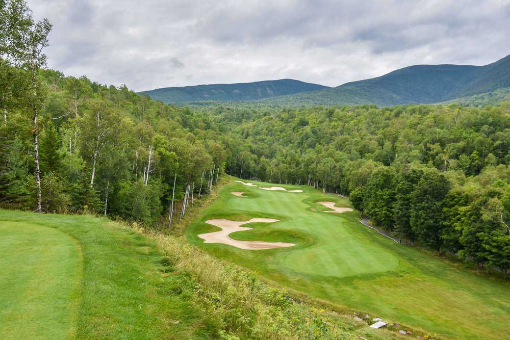The back nine at Sugarloaf starts off with quite a view on this drive-able par 4.