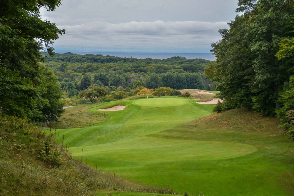 The 17th hole at Crystal Downs has been regarded as one of the world's finest.