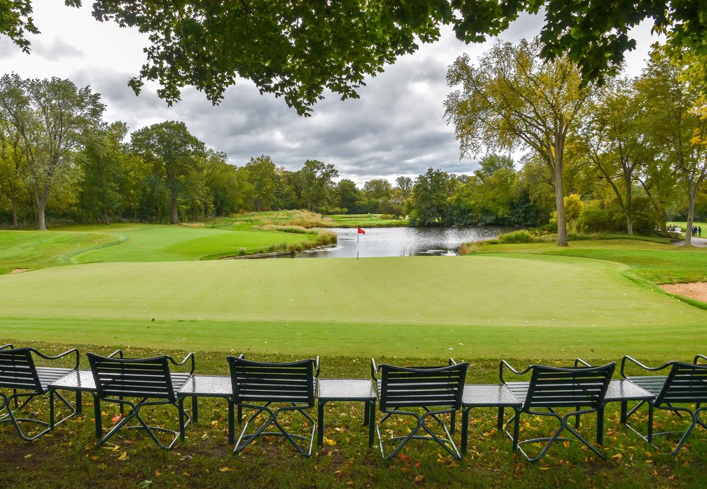 The par 3 9th hole at Skokie Country Club