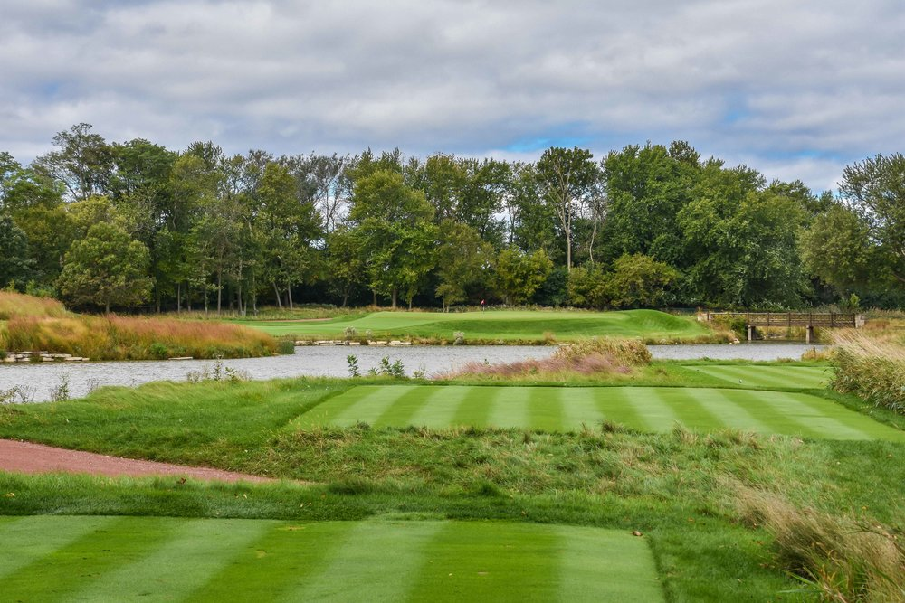 The 12th hole is one of the more difficult par 3's at Skokie.