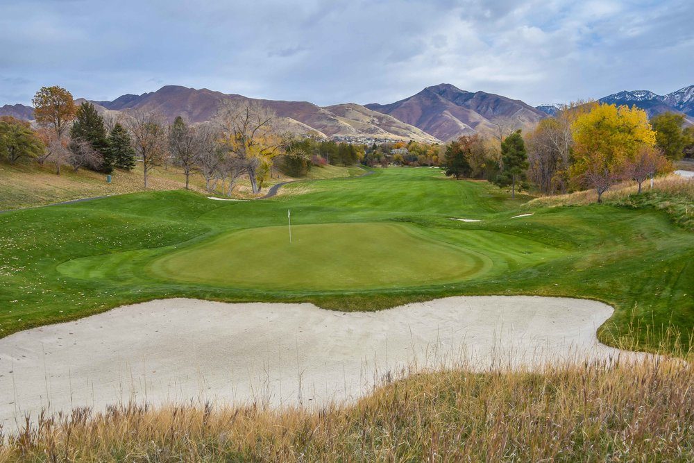 The 13th hole at The Country Club of Salt Lake.