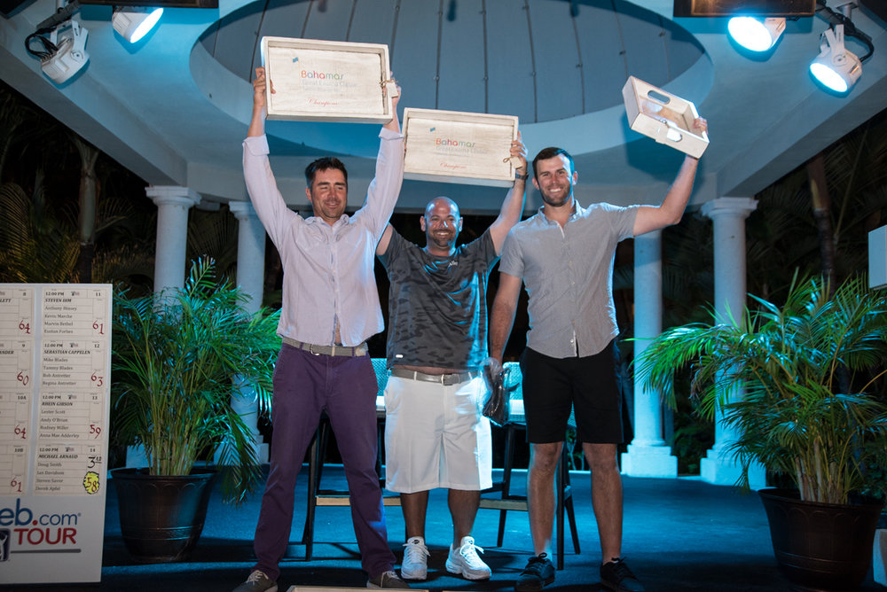 Only 3 of the 5 members of the world's greatest Pro-Am team were able to make it to the podium. The other 2 members were being treated for exhaustion.