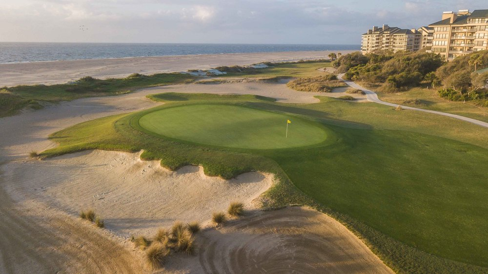 The 18th hole on the Links course at Wild Dunes in Isle of Palms, SC.