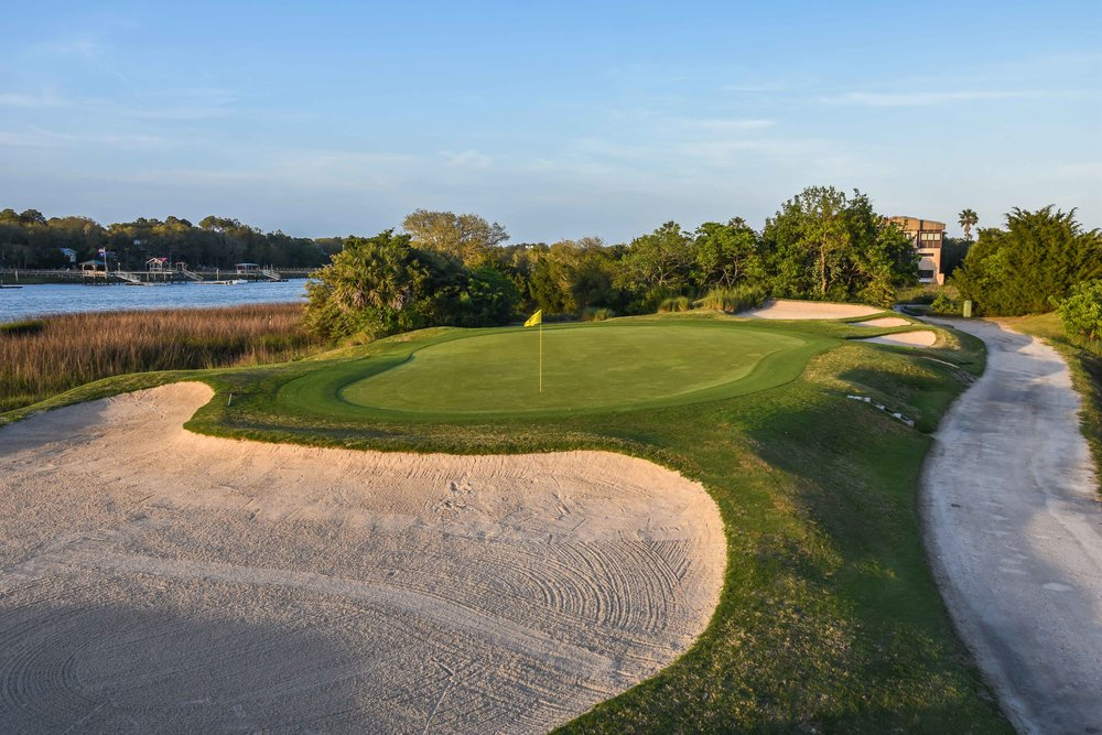 The 12th hole on the Harbor course.