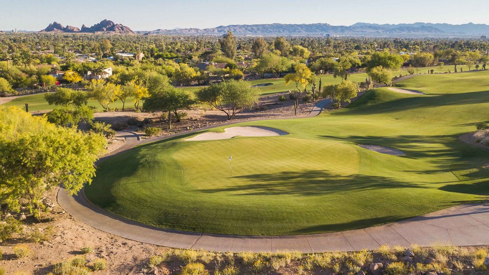 The par 5 15th hole at The Phoenician